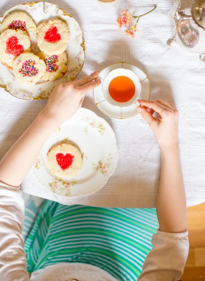 Heart Sugar Cookies + Valentine's Tea Party