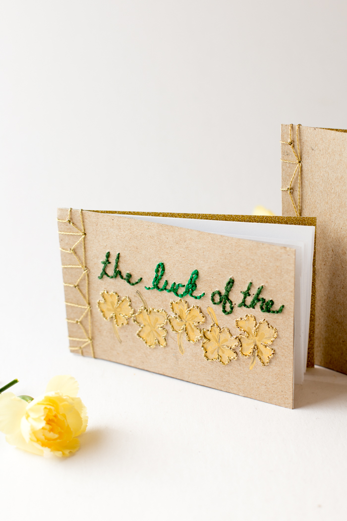 Embroidered Book Cover Tutorial : Book binding tutorial with embroidered cover flax twine
