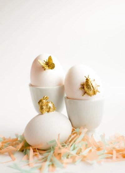 Gold Animal Easter Eggs DIY