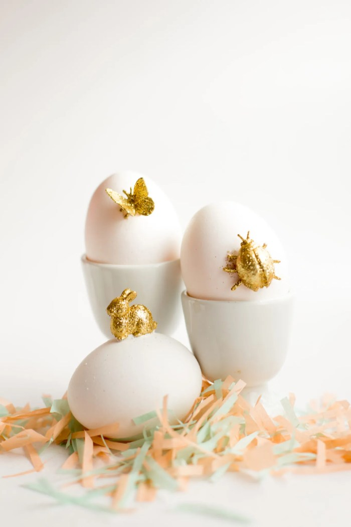 gold animal easter egg diy-7194