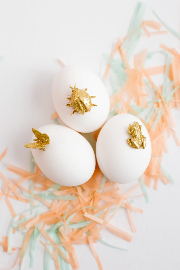 gold animal easter egg diy-7254