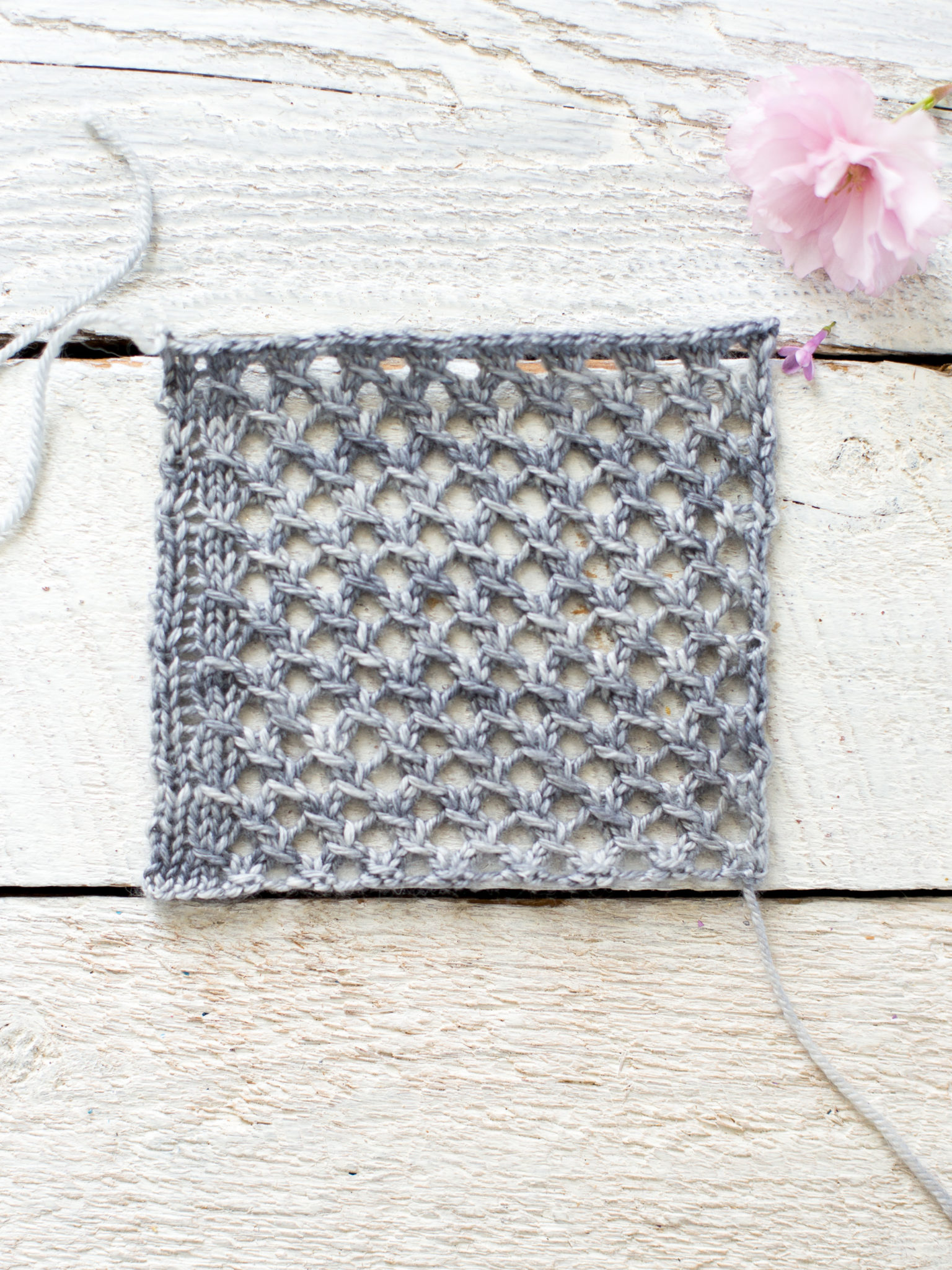 d57a09fe794ce0 How To Make An Easy Lace Knit Shawl Pattern - Flax   Twine