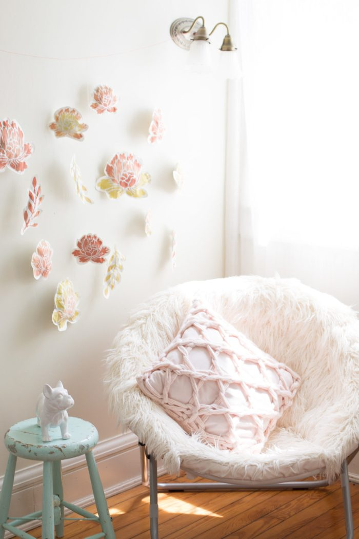 DIY Paper Flower Wall