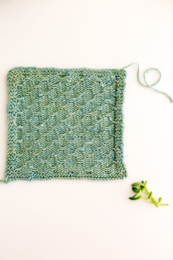 Trellis Double Slip Stitch Knitting Pattern