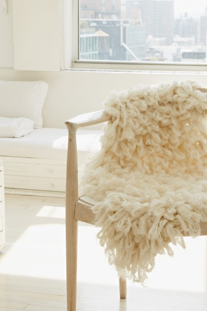 Faux Sheepskin |  Arm Knitting Patterns from Knitting Without Needles by Anne Weil