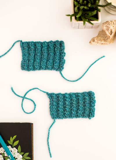 Mock Cable Ribbing How To