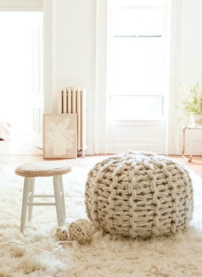 Knitting Without Needles: The Great American Pouf Tour
