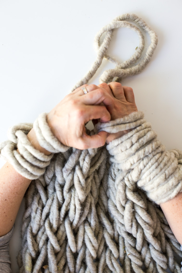 Making Arm Knitting Tighter-5906