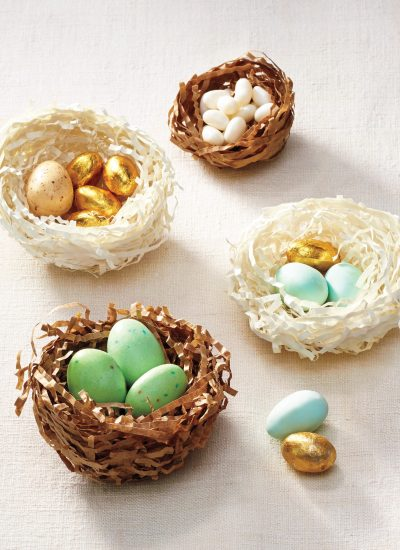 Make these DIY Shredded Paper Nests for Easter