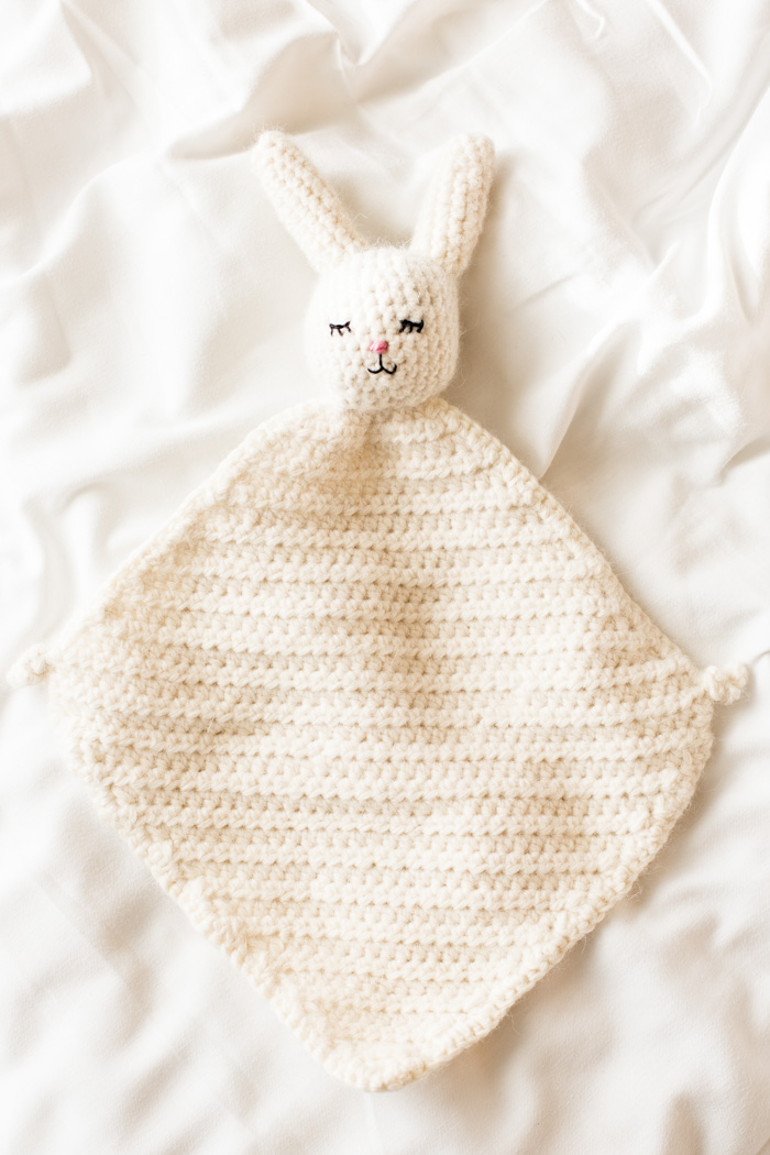 The Cutest Crochet Bunny Blanket - Flax & Twine