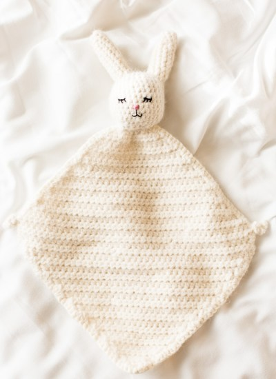 The Cutest Crochet Bunny Blanket