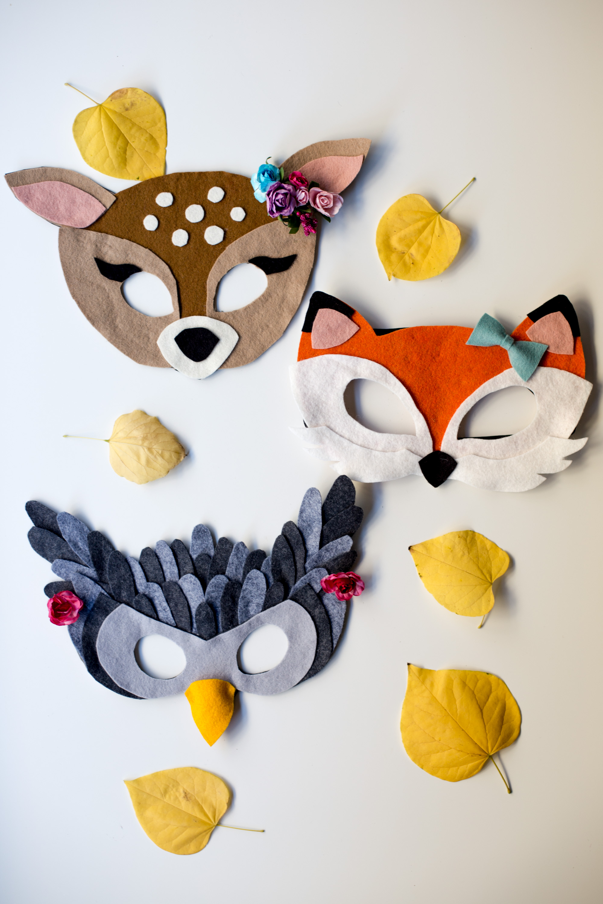 No Sew Free Felt Animal Mask Patterns Flax Twine