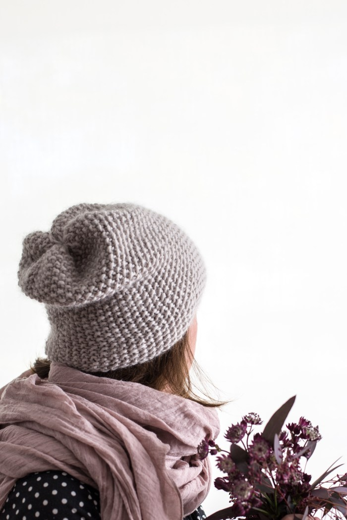 We Are Knitters Knit Beanie Hat by Anne Weil of Flax & Twine
