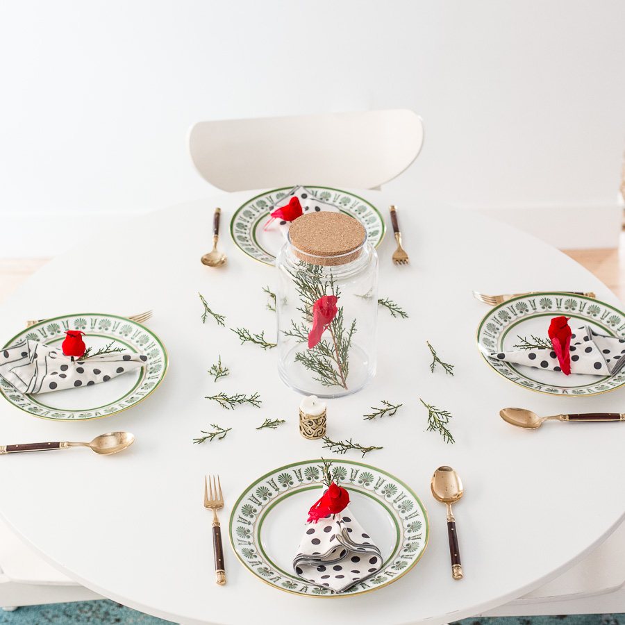 Easy Last Minute Holiday Table Setting Diy Flax Twine