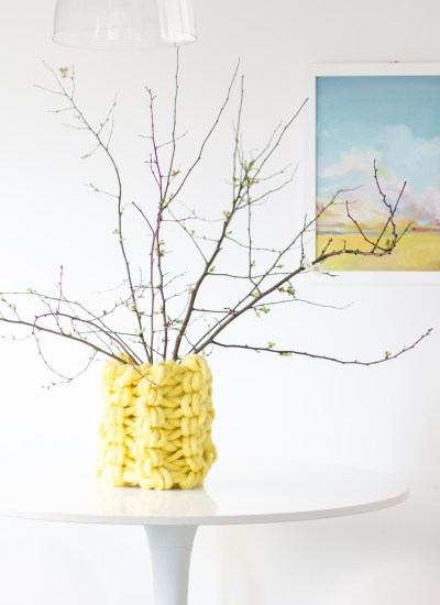 Amazing DIY Arm Knit Chunky Vase Pattern