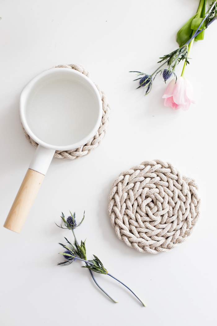 Finger Knit Trivet Kits  - All the supplies you need to make your own!