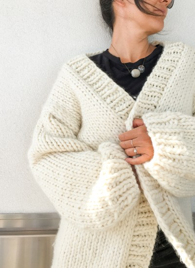 Simone Chunky Cardigan Knitting Pattern and Kit