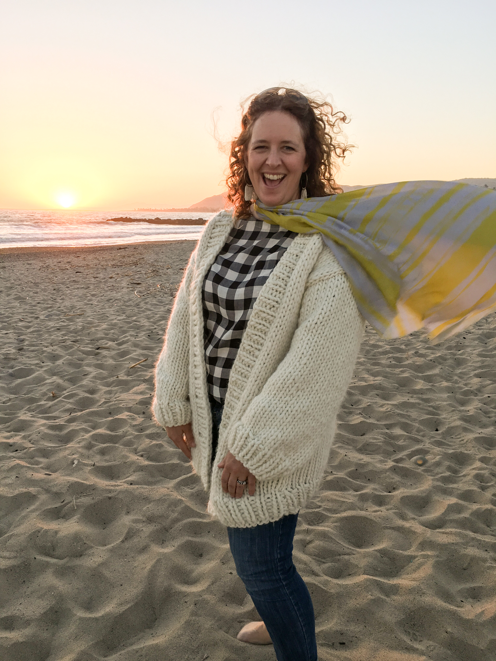Knitting Pattern Chunky Wool Cardigan : Simone Chunky Cardigan Knitting Pattern and Kit - Flax & Twine
