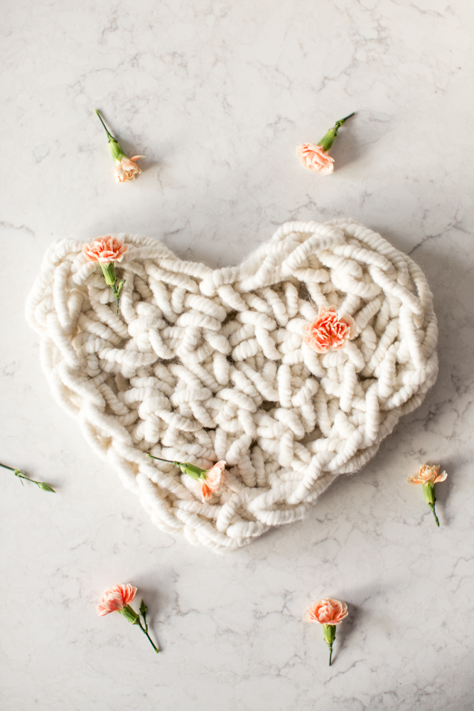 Giant Hand Crocheted Heart