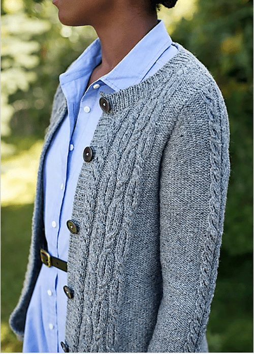 1a4f94cb1ac46 ... pullover sweater. Comprised of a simple repeat stitch cable pattern