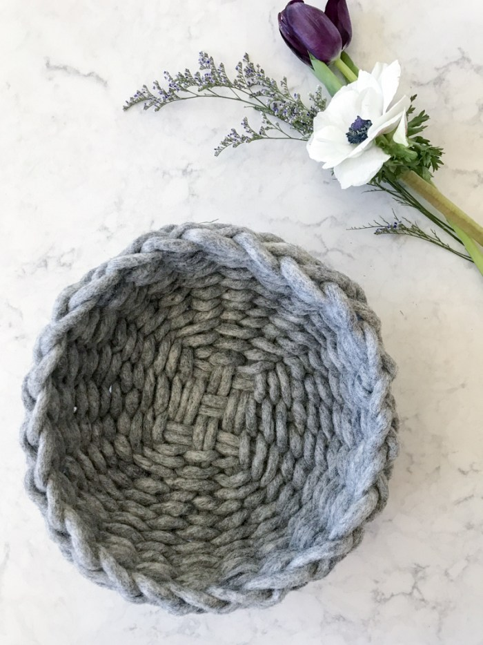 Felted Wool Twined Woven Bowl