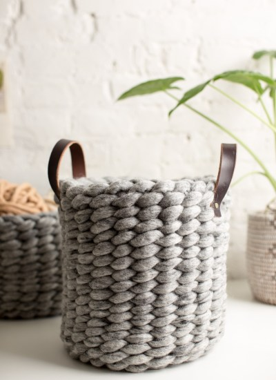 Woven Felted Wool Basket Video and Pattern