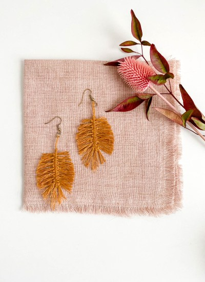 Macrame Feather Earrings Pattern and Kits