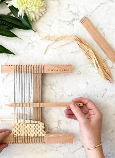 Handmade Hand Looms from Flax & Twine