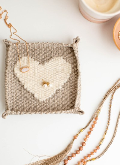 Woven Heart Jewelry Dish Pattern and Kits