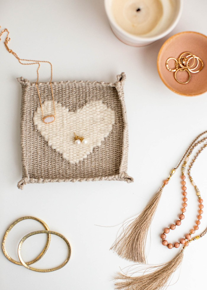 Woven Heart Jewelry Dish