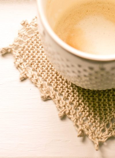 Knit Linen Coaster Pattern and Kits