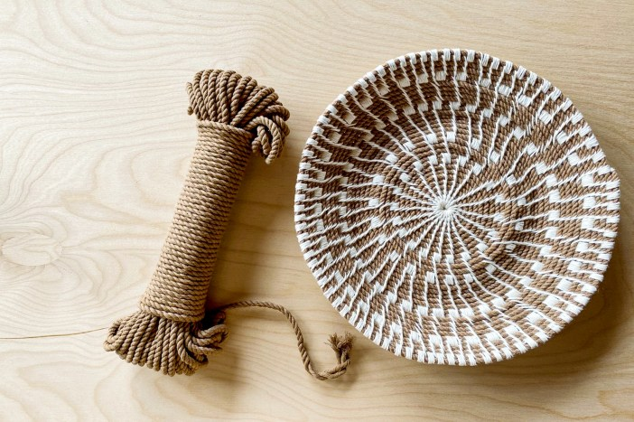 Sunburst Basket and Modern Marcrame Cotton Cord