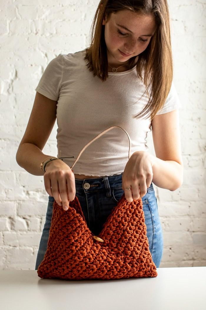 Easy Crochet Purse - Torrey Tote by Flax & Twine