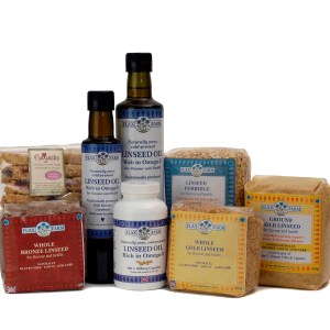 Food rich in fibre made from Flax Farm linseed.