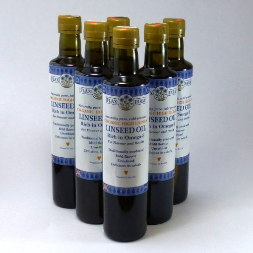 high lignan linseed oil x 6 500ml bottles
