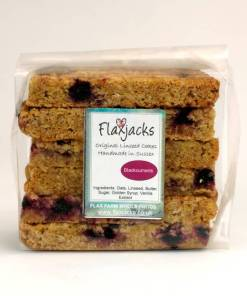 Blackcurrant Flaxjacks
