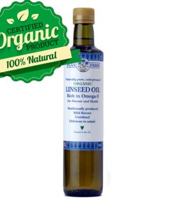 Organic cold-pressed linseed flax oil 500ml