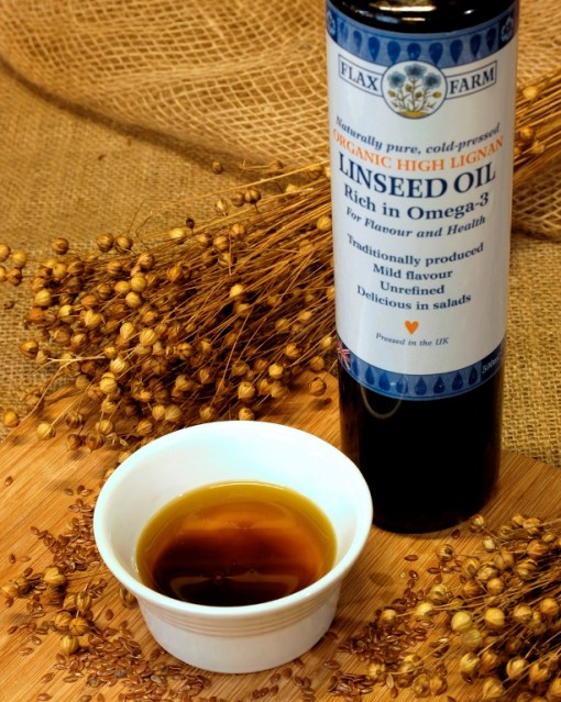 Organic cold-pressed high lignan linseed oil