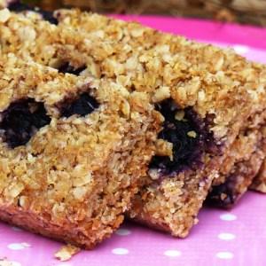 Blueberry Flaxjacks Gluten-free Linseed Flapjacks