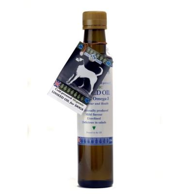 Organic cold pressed linseed oil