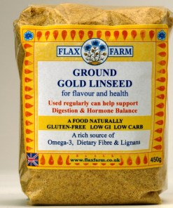 Flax farm Ground linseed for making flax crackers