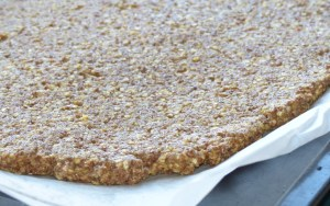 Linseed (flax) gluten-free pizza base