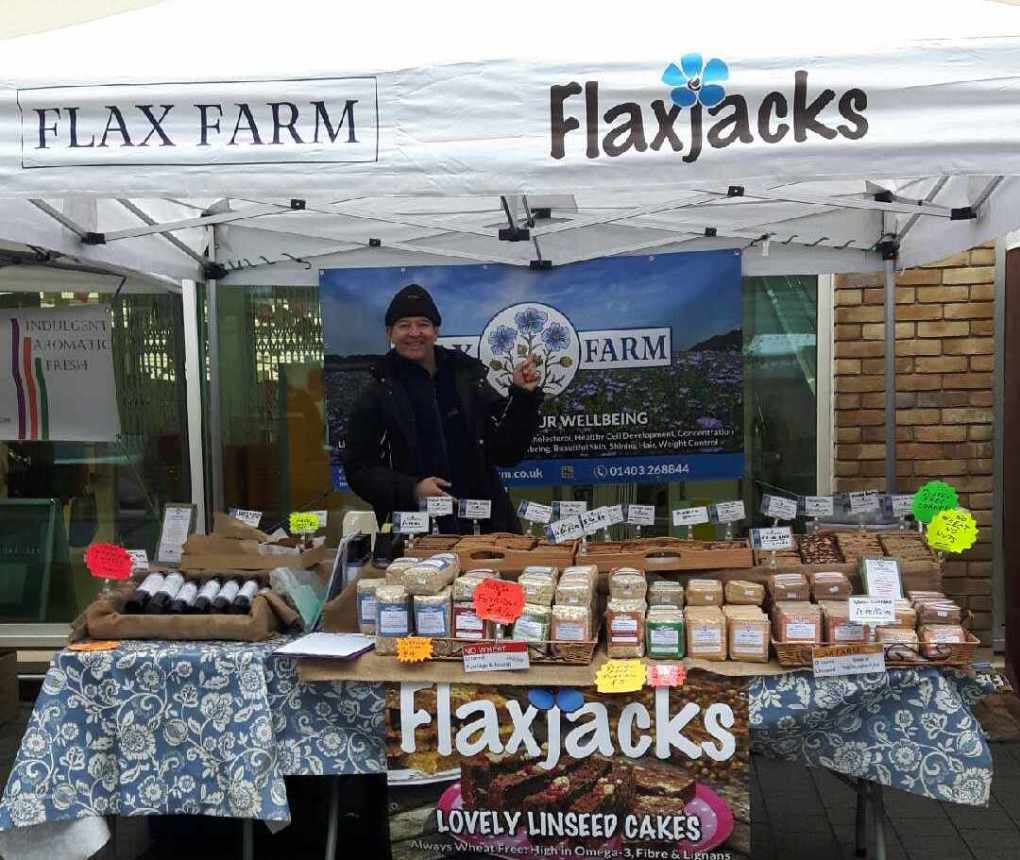 Flax Farm at Local Farmers' Markets