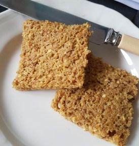 Gluten-free vegan flax bread