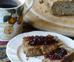 Gluten-free, carb-free paleo, diabetic bread toast and marmalade