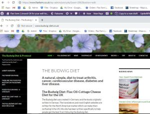 Budwig Diet Website for the UK www.budwig-diet.co.uk