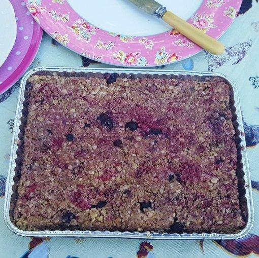 Mixed Berry Bake@Home Flaxjacks