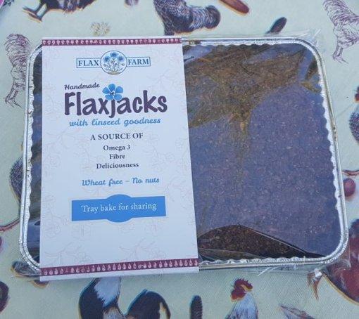Carrot cake gluten-free shuar-free flapjack linseed flaxjack homebake