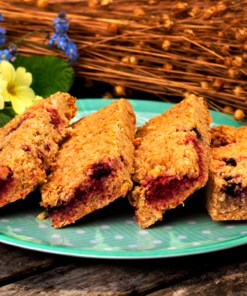 Mixed Berry Bake@Home Flaxjacks
