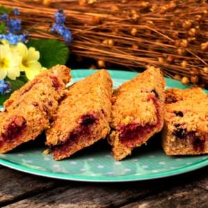 Flax Farm gluten-free good for the digestion linseed flax flapjacks